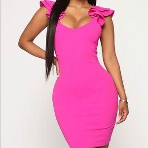 NEW- Hot Pink Mini Dress